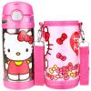 Jingdong Супермаркет] [HELLO KITTY Hello Kitty детей соломенная Чашку чайник воды из нержавеющей стали мужские и женские студентов (в том числе наборы чашек) 350мл розовый игровые наборы hello kitty игровой набор глобус
