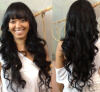 Peruvian Virgin 130 Density Body Wave Full Lace Human Hair Wigs For Black Women