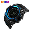 SKMEI Men Smart Watch Pedometer Calories Chronograph Fashion Sport Watches Chronograph 50M Waterproof Digital Wristwatches 1227 pedometer heart rate monitor calories counter led digital sports watch fitness for men women outdoor military wristwatches