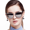 BLUEKIKI YEUX cateye fashion sunglasses women polarized mirror vintage glasses tshing ray fashion women rose gold mirror cat eye sunglasses ladies twin beams brand designer cateye sun glasses for female male