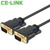 Кабель CE-LINK VGA (3 + 6) 3 м с магнитным экраном экранированный кабель HD-видео кабель HDTV-монитор проектор черная 1861 кабель