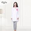 iCoffy домашний сервис женский весенние брюки домашняя обстановка досуг хлопок с длинными рукавами живая одежда OF8006 розовый волна точка XL код