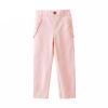Fuluo чо Flordeer Франция Дети Дети девушки длинные брюки вельвет сплошной цвет моды случайные брюки F73014 бежевый 130 ai fuluo iflow