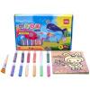 Deli (гастроном) 9674 DIY ручной песка картины комплект / песка картины Подарочный набор гулянки включены девять цвет бумаги 12 браслет power balance бкм 9674