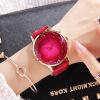 2017 новые мода часы с бриллиантами красивыйэлегантныйженские часы розового золота кожаный
