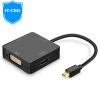 IT-CEO Mini DP для VGA / HDMI / DVI трехконтактный конвертер Mini Displayport молниеносный интерфейс Macbook адаптер 4KX2K черный Y1DP-VHD mini dp displayport thunderbolt для dvi vga адаптер hdmi 3 in1 для apple macbook air pro imac