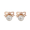 Yoursfs @ Lovely Bowknot Earrings 18k GP Charm White Pearl Stud серьги для женщин для девочек подарки стульчик для кормления nuovita futuro bianco cosmo giallo