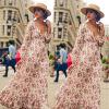 CANIS @ Womens Maxi Boho Цветочные летние пляжные длинные юбки вечерние коктейльные платья длинные летние платья 2014 фото