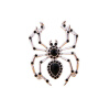 Yoursfs@ handmade Black Spider vintage brooch rhinestone brooches for women diy Fashion Jewelry breastpin brooch pins vintage red rhinestone bean sprout brooch for women