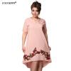 COCOEPPS вышивка платье 2017 летних больших размеров V-образным вырезом платья для женщин плюс большой размер свободной одежды