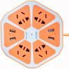 Jishun (Jishun) JSW-6J 1,8 м 4 Бит 5 отверстий с четырьмя USB смарт-сокетов творческий выход фруктов гнездо Лимонный Оранжевой розетка стрип удлинителю jishun jsw 1005 1 8 м 5 портов синий розетка