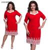 Cocoepps кружева лоскутное женское платье Летний стиль Размеры офиса большой Размеры платье случайные свободные платья
