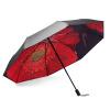 Nailuo (чернь) N8341 рука открытие винил двойные зонтики барометром двойной УФ зонтик N8341