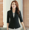 Casual Work Office Blazer Three Button Jacket for Women Half Sleeve With Turnback Cuffs 2017 Fall Spring Slim Candy Color Blazer evan picone new turquoise three button crepe blazer 6 $129 dbfl