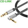 CE-LINK 2454 AUX аудио кабеля автомобиль соединение автомобиль 5 метров плоских розового золота наушники аудио кабеля с 3,5 мм стерео аудио кабель аудио кабель vovox link protect s200 trs xlrm