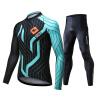 Mai Senlan (MYSENLAN) M0210501 весной и летом с длинными рукавами джерси костюмы горного велосипеда одежда велосипеда мужской синий горизонт XL
