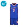 361 ° Дети лета новых мальчиков баскетбол спортивная одежда N51721461 инкрустированные синий 140