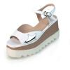 сандалии (-ия) 2017 круглый нос летняя обувь кожаная обувь обувь с пряжечной кожаная обувь обувь