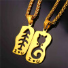U7 Gold Plated/ Steel Cat Fish Pendant Necklace For Women Animal Jewelry цена 2017