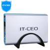 IT-директор F8 USB3.0 HDD Enclosure / базовые универсальный 2,5 / 3,5-дюймовый SATA HDD / SSD твердотельные накопители предназначены для настольного ноутбука жесткого диска серебра hdd для ноутбука