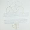 D Белое сексуальное женское бельё Сексуальное женское бельё Бисероплетение Белье Униформа стринги Open Crotch G-string открытый бюстгальтер вышивка бисероплетение