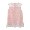 Fuluo чо Flordeer французская детская одежда девушки платье детей принцесса платье моды юбка вышиты розовый F71067 130 пижамы mia cara пижама