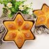 Супермаркеты школа] [Jingdong торт плесени кухня CHEF MADE Звезды Давида Ши Муся снежинка Chi формы для выпечки 212 * 212 * 50 Gold с WK9142