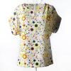Летняя цветочная блузка Футболка с короткими рукавами Футболки с короткими рукавами Шифоновые рубашки Блузки Маленькие цветы Blusas Femininas блузки mango блузка tucano8