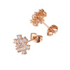 Yoursfs@ Gold Plated Earrings Vintage Crystal Women Fashion Jewelry Snowflake Studs Gift