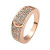 Yoursfs @ Модные круглые кольца для женщин Цинковый сплав Многоцветный кристалл Свадебные обручальные кольца R065