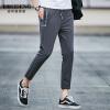 Мужская одежда Bosideng (BOSIDENGMAN) мужская тонкая секция брюк для отдыха весенне-летние модели Slim pants 3272B63081 темно-серый L