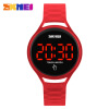 SKMEI Women Watches Touch Screen LED Display PU Strap Woman Fashion Casual Watch Men Digital Wristwatches 30m Waterproof 1230 hot sale 16inch waterproof oil price led digital number display screen sign panel from china