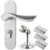 Юхуа Зе (Yuhuaze) простой номер двери внутренней ручки двери замки комплект немой замок противоугонной с 3 петли поглощения двери +1 двери