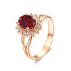 Yoursfs@  18K  Gold Plated Kate Middleton Diana Oval Ruby Engagement Ring with Rhinestone Crystal сумка kate spade new york wkru2816 kate spade hanna