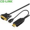 CE-LINK HDMI кабель конвертер VGA адаптер HD соединительная линия проектора кабель hdmi uv hdmi vga hdmi vga