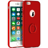 Телефон Чехол для iPhone 6 6s Plus Ultra Тонкий Slim Обложка Простой PC Back Ring Holder 360 ° Защита вращения для iPhone 66s Plus