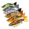 1PC Новые 7 секций Приманка для рыбалки 10 см / 3,94 -0,43 унции / 12,1 г Приманка для рыбалки для рыбалки 6 # Черный крючок для рыбалки