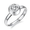Yoursfs @ Хорошее Quanity Titanium Steel CZ Кольцо Свадебные ленты Розовое золото Кристалл Женское кольцо простое кольцо перста кольцо женское