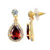 Yoursfs @ Модные серьги с капюшоном с капюшоном Ruby Gem Jewelry 18K Gold Plated CZ Earring Brincos Интернет-магазин Африка оптом cevik group интернет магазин