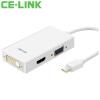 CE-LINK Mini DP очередь VGA / HDMI / DVI конвертер 4K Mini тройной адаптер Mini DisplayPort интерфейсы молнии черный A1513 Macbook ce link dvi удлинитель для сетевого кабели усилитель сигнала