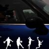 Сюань выигрывает специального водонепроницаемых наклейки солнцезащитного крема автомобиля наклейка автомобиля NBA Slam Dunk баскетбол черного размер: 58 * 18cm крема