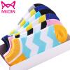 Люди кошки (MiiOW) [6 пар] женские носки женские хлопчатобумажные модные гофрированные стелс носки спортивные спортивные носки носки спортивные носки maxland t199