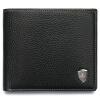 Мексиканский пугало бизнеса моды мужской бумажник короткий бумажник мужчины бумажник сечение коровьей MXD30523M-03930 Black