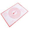 Ni По отличному разминанию слоя силикагеля большой антипригарной скалки площадки утолщенных бытовая выпекание и большая черные стекловолоконный мат поверхность DQ9076-3