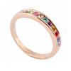 yoursfs ® 18k rose позолоченные кристалл раунда кольцо использовать четкие австрийского кристалл люкс для кольцо стенка аврелия 18 люкс