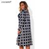 COCOEPPS L-6XL женщин Плед пальто большой размер NEW Осень зима плюс размер женщин пальто большой пальто Длинные рукава Одежда