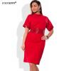 COCOEPPS Мода вскользь женщин Sequins одевает платье Turtleneck большого размера плюс размер одежды женщин 5xl 6xl платье чулки seven til midnight большого размера с кружевной резинкой xl телесный