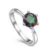 yoursfs ® 18k rose позолоченные 0.5ct искусственной бриллиантовое кольцо использовать австрийский кристалл обручальное кольцо кольцо 18k 18 k