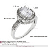 Yoursfs@ Round Ring Engagement Rings Setting Cubic Zirconia Anel Jewelry For Women Love Bague Anillos Mujer Gift yoursfs luxury wheat shape big rings for women wheat statement ring engagement wholesale jewelry leaves design