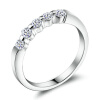 Yoursfs @ Sparkly 5 кубических циркониевых колец 18k White Gold Plated Fashion Rings Band yoursfs 18k white gold plated austria crystal soliraire anniverary rings with princess cut
